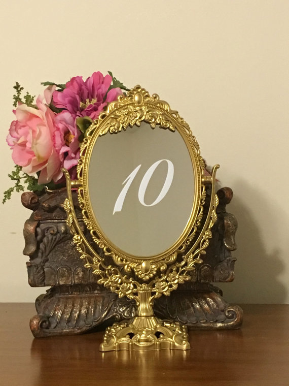 mirror calligraphy table numbers