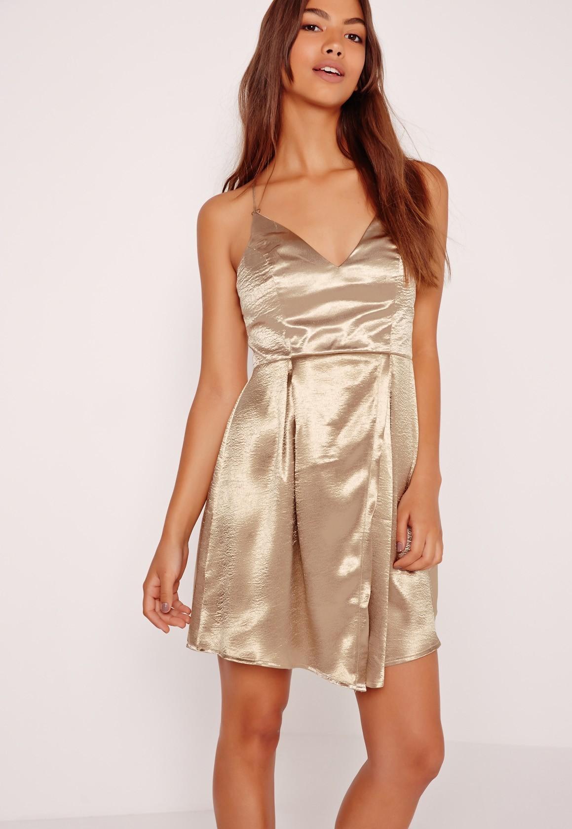 silky gold dress