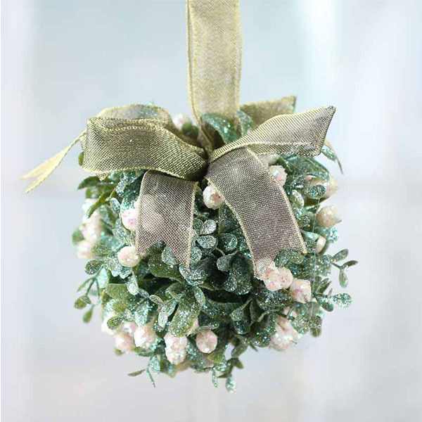 Sparkling Mistletoe Kissing Ball