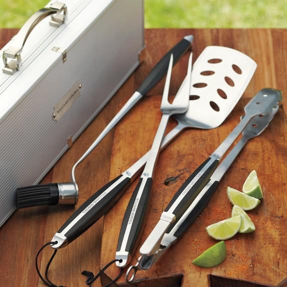 Monogrammed Williams-Sonoma BBQ Tools Set