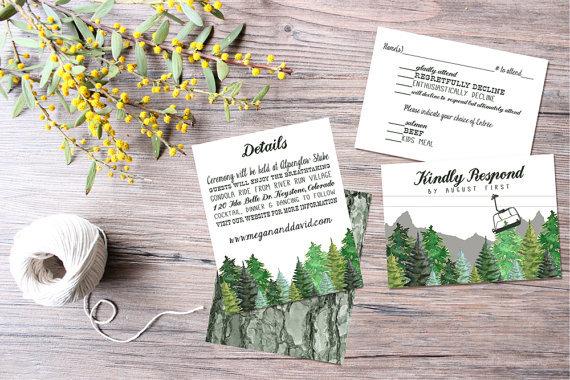Mountain Wedding Invitations by caseysnyderdesign