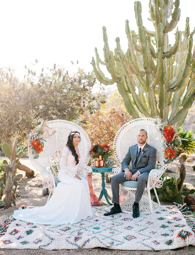 cactus wedding backdrop