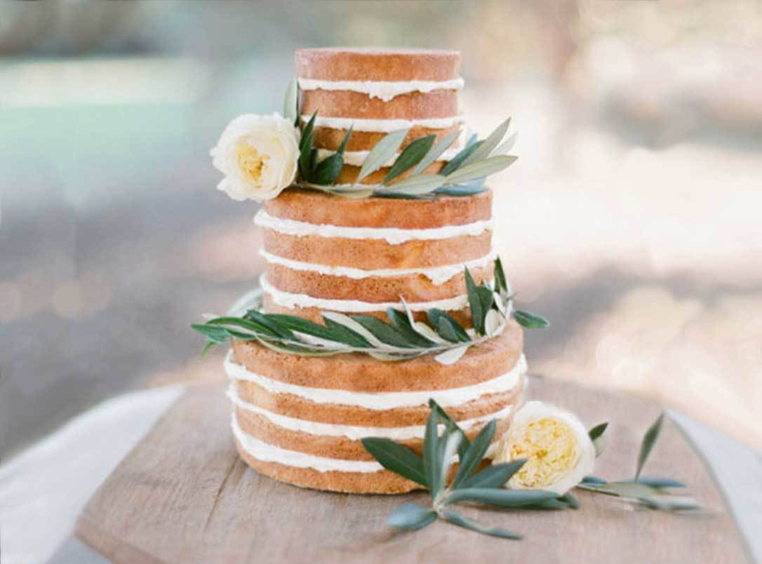 Naked Cake with Sage