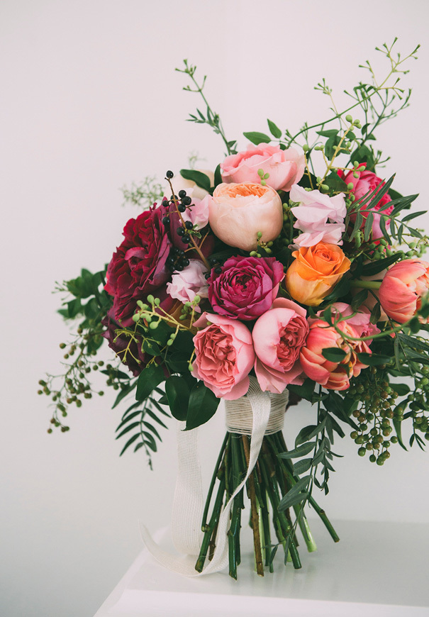 Rose bouquet with varying textures