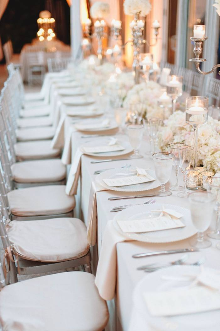 neutral wedding table