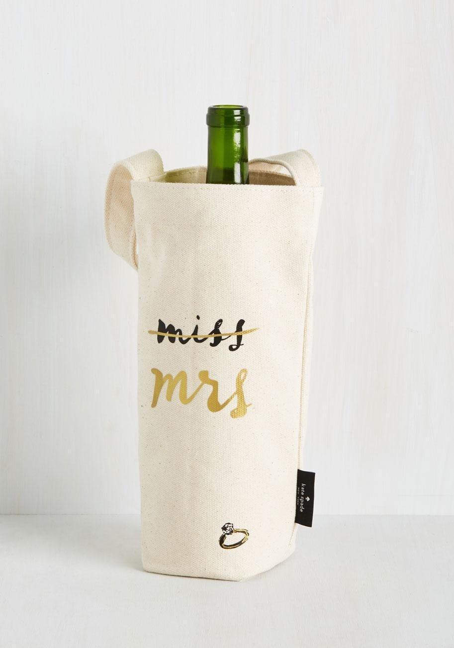 canvas wine tote