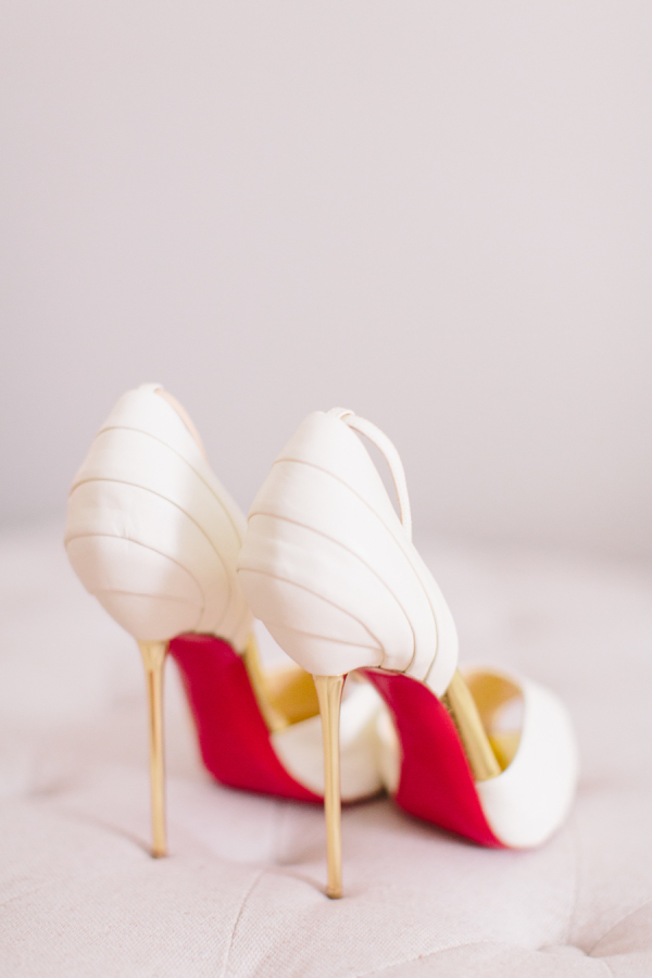 red soled wedding shoes