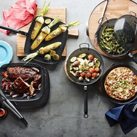 High-Heat Nonstick Steel Grill Fry Pan via Williams-Sonoma