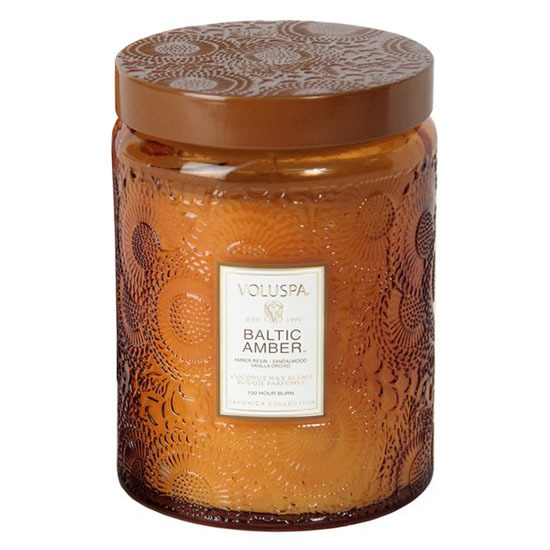 Japonica Embossed Candle