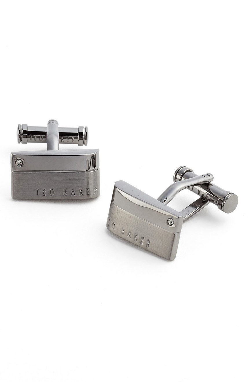 gunmetal cuff links