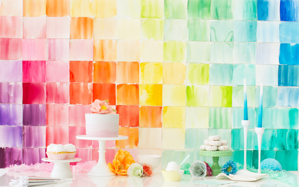 colorful paper backdrop