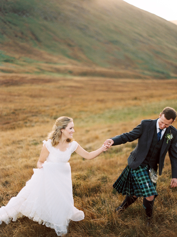 Scottish groom in kilt