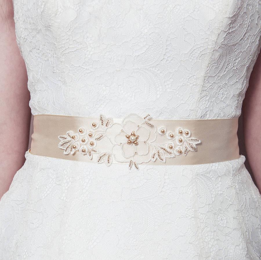 Beautiful Beaded Bridal Sash