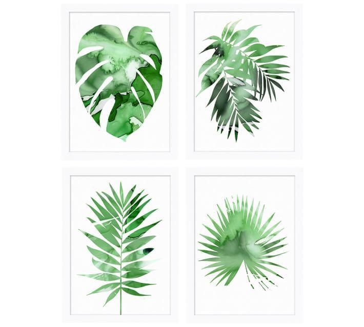Palm Impression Framed Print - Pottery Barn Wedding Registry