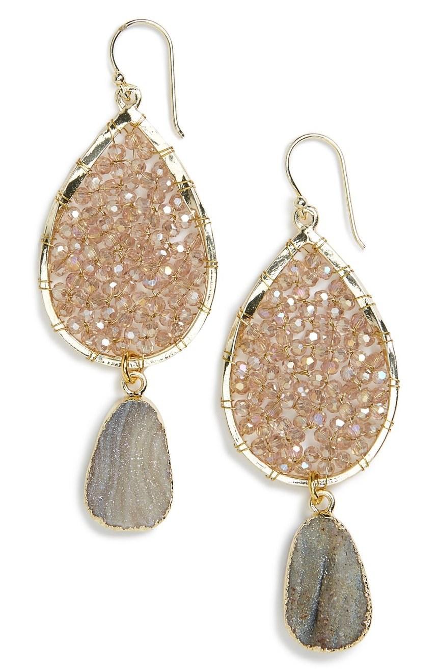 neutral drop earrings