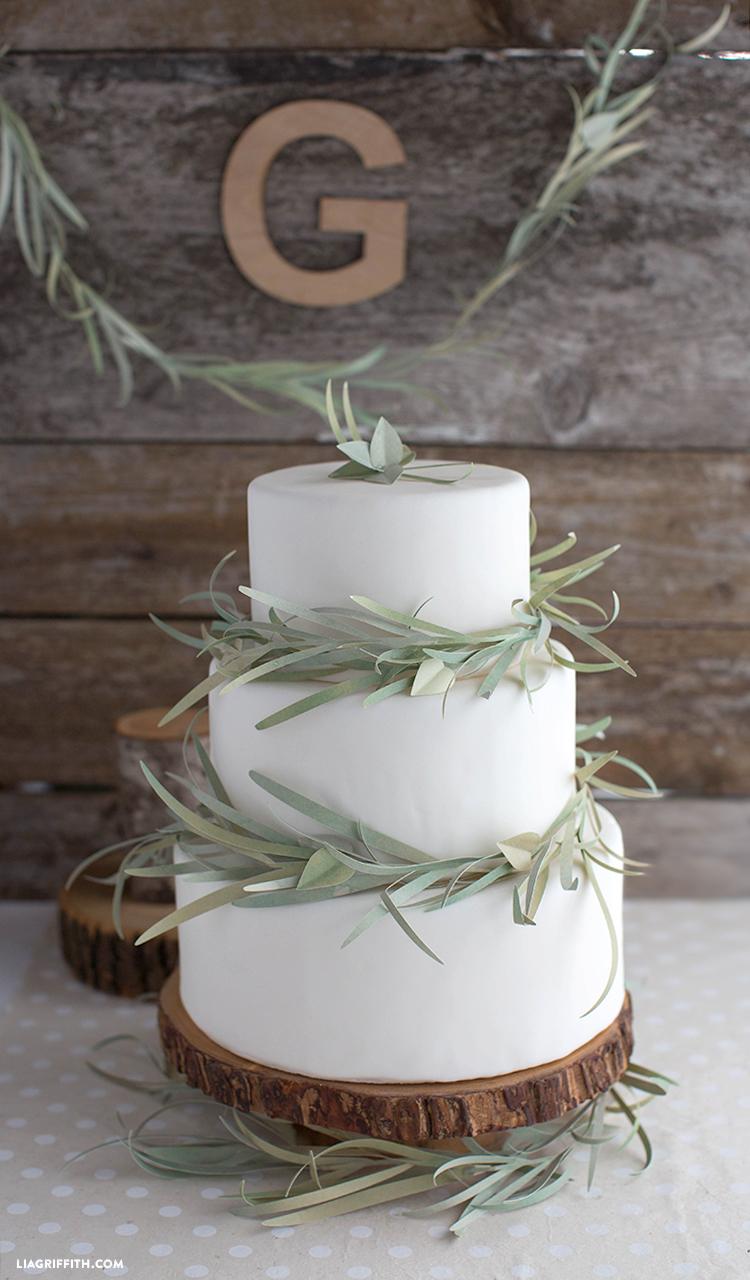 Paper Eucalyptus Garland Cake