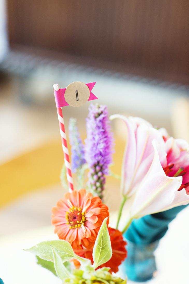 Colorful Straw Table Marker