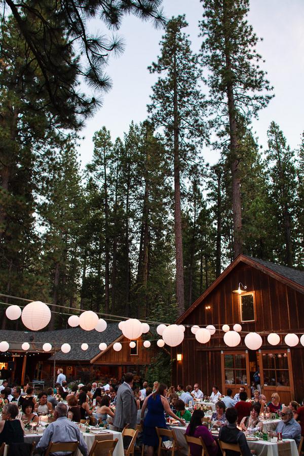 outdoor cabin wedding