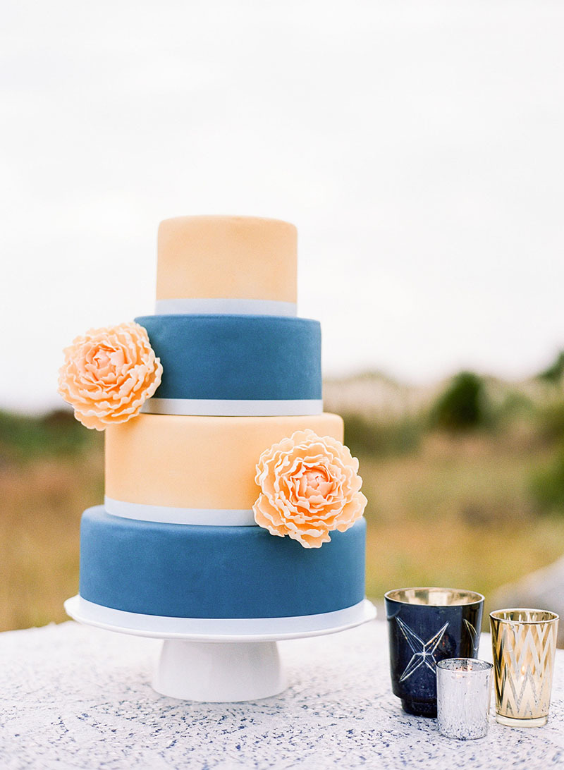 Pretty Peach and Blue