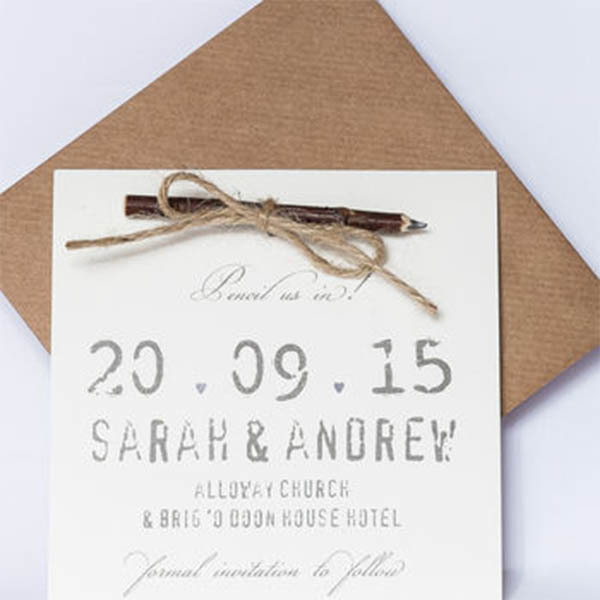 'Pencil Us In' Save The Date Card