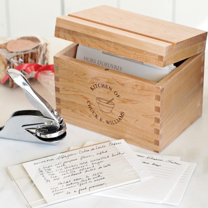 recipe box gift set