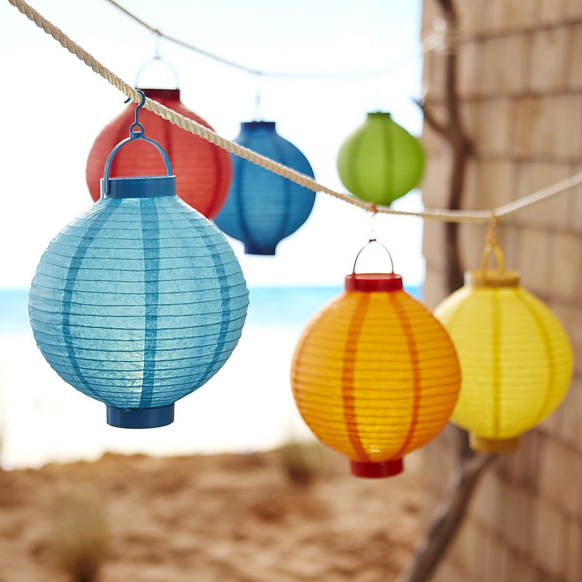 colorful paper lanterns
