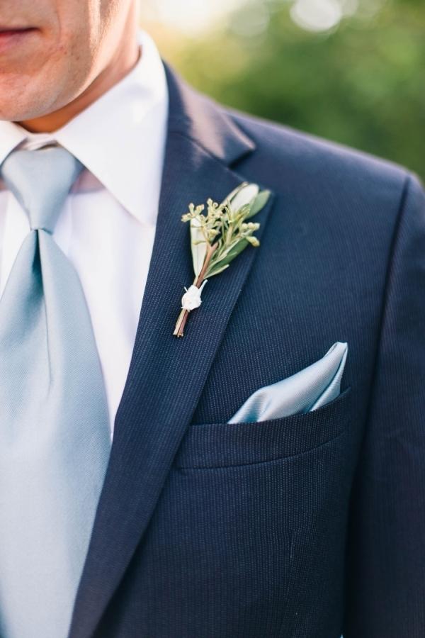 Plain Blue Tie
