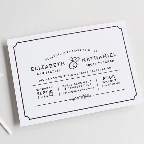 theater playbill wedding invitation