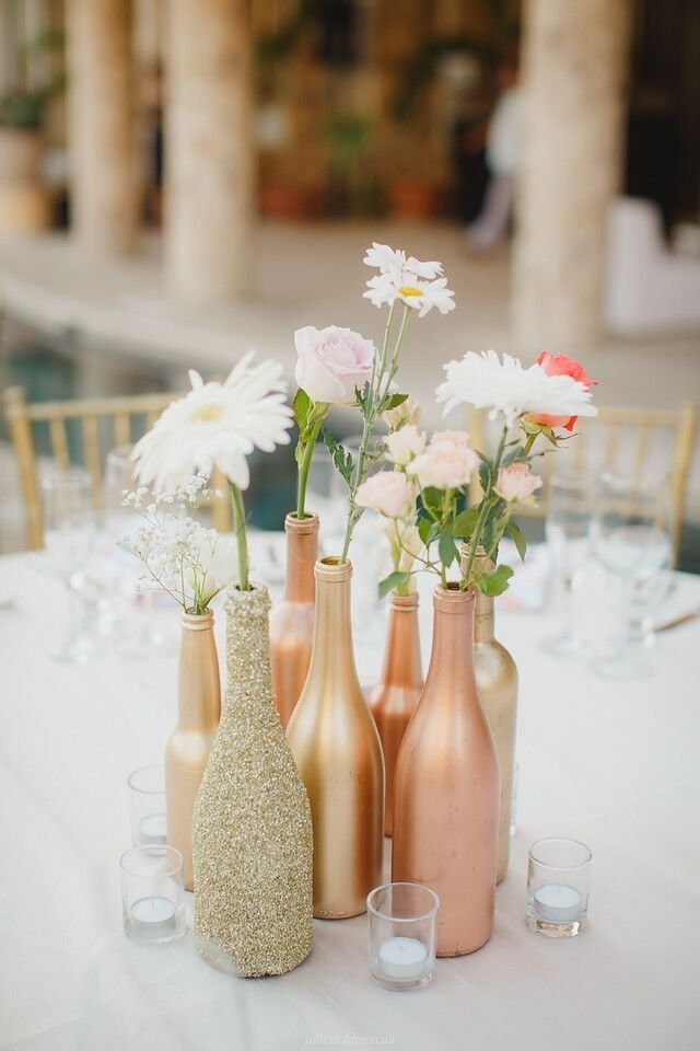 Diy Centerpieces Eye Catching Wedding Tables On A Budget Mywedding