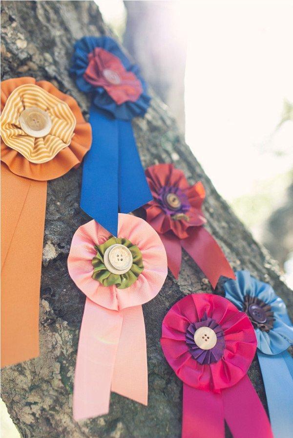DIY Ribbon Medallions for Farm Wedding by POPSUGAR