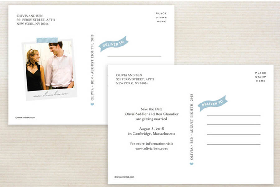 Stylish Script Post Card