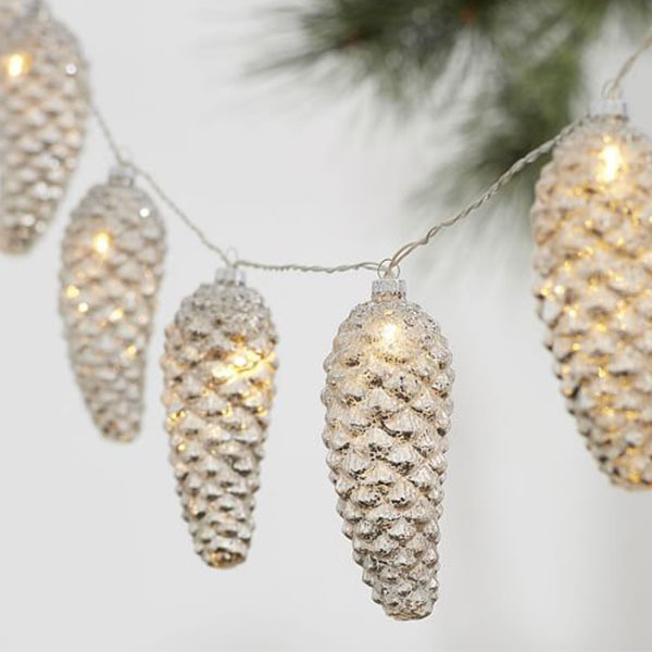 Pinecone Mercury String Lights