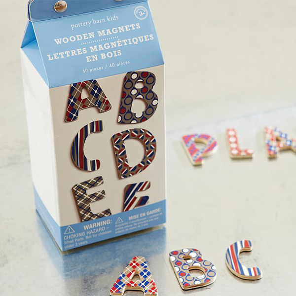 wooden magnet letters