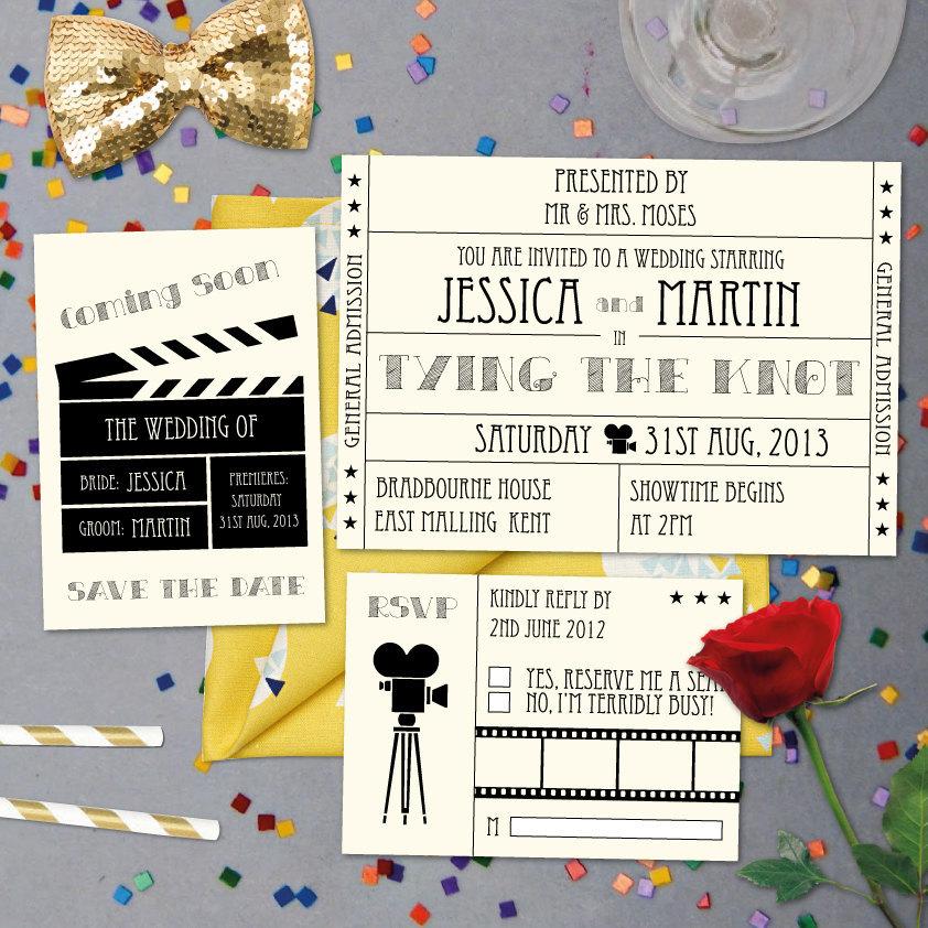 Hollywood themed invites