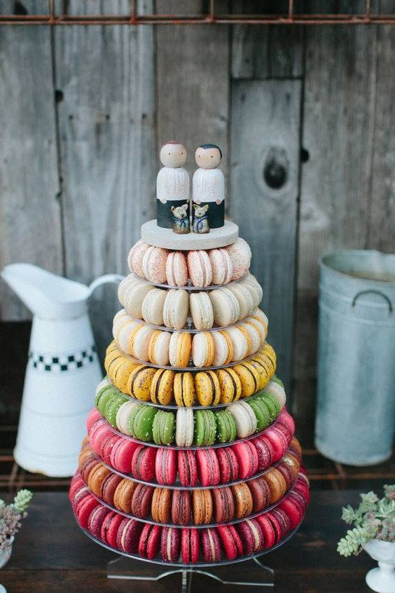 Rainbow Desserts for Same Sex Wedding by Pure Bliss Wedding