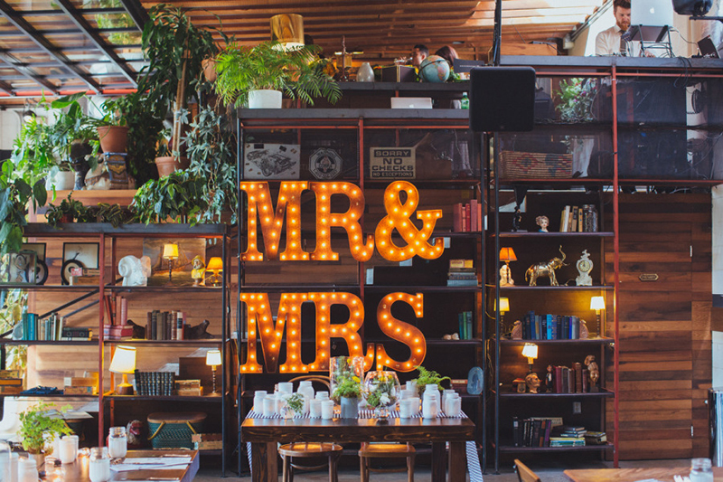 marquee wedding sign