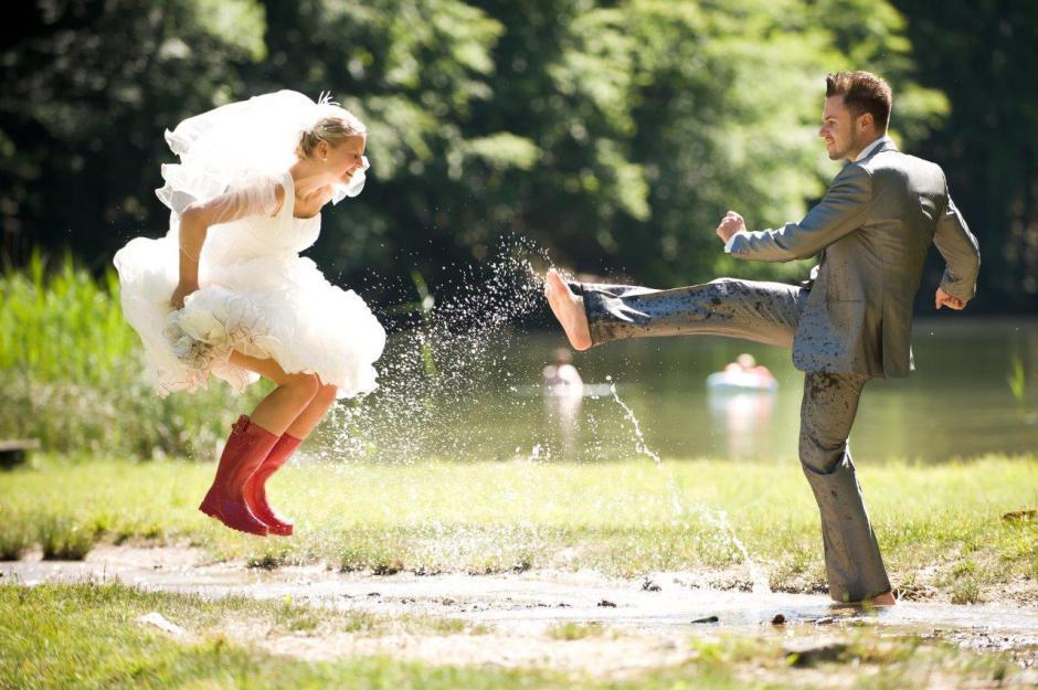 rainboots wedding photo