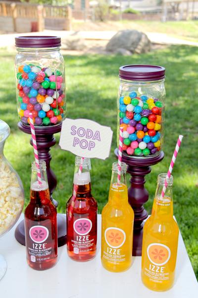 Rainbow wedding snacks