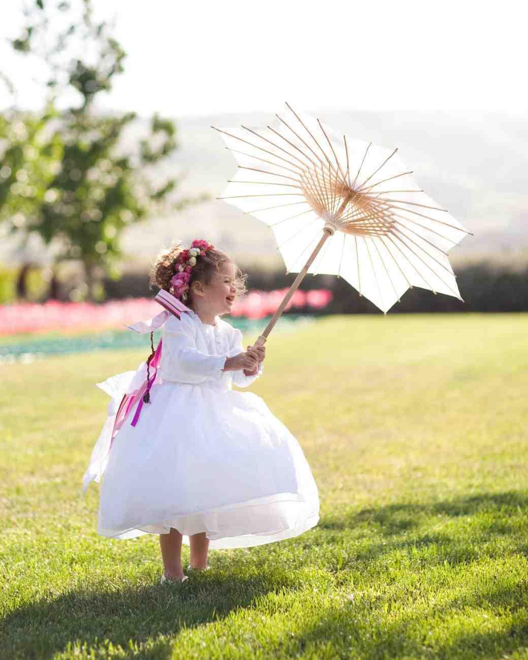 flower girl parasol accessory