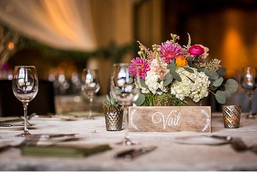 Colorado Mountain Wedding Reception by Daylene Wilson