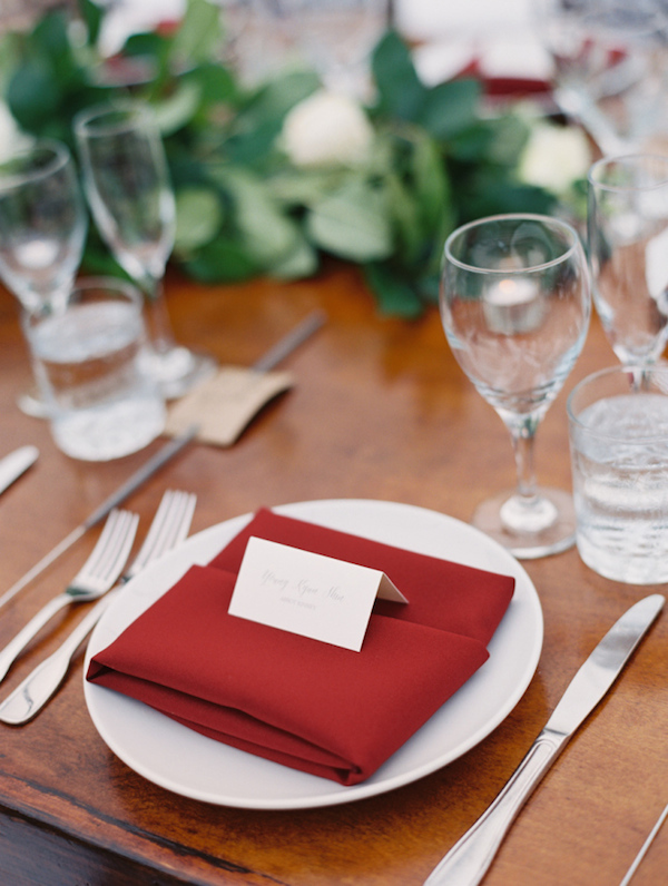 Red cloth napkin