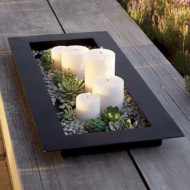 Reflection Black Metal Centerpiece - Crate and Barrel Wedding Registry