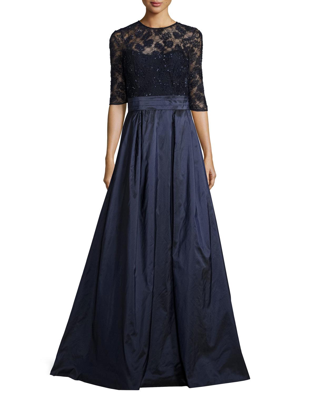 lace bodice MOB dress
