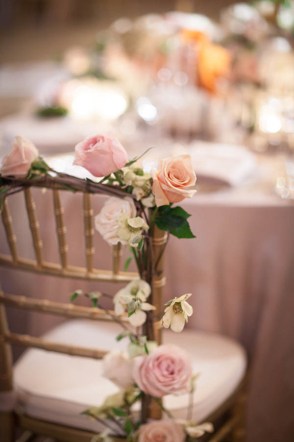 Chair wedding arrangement
