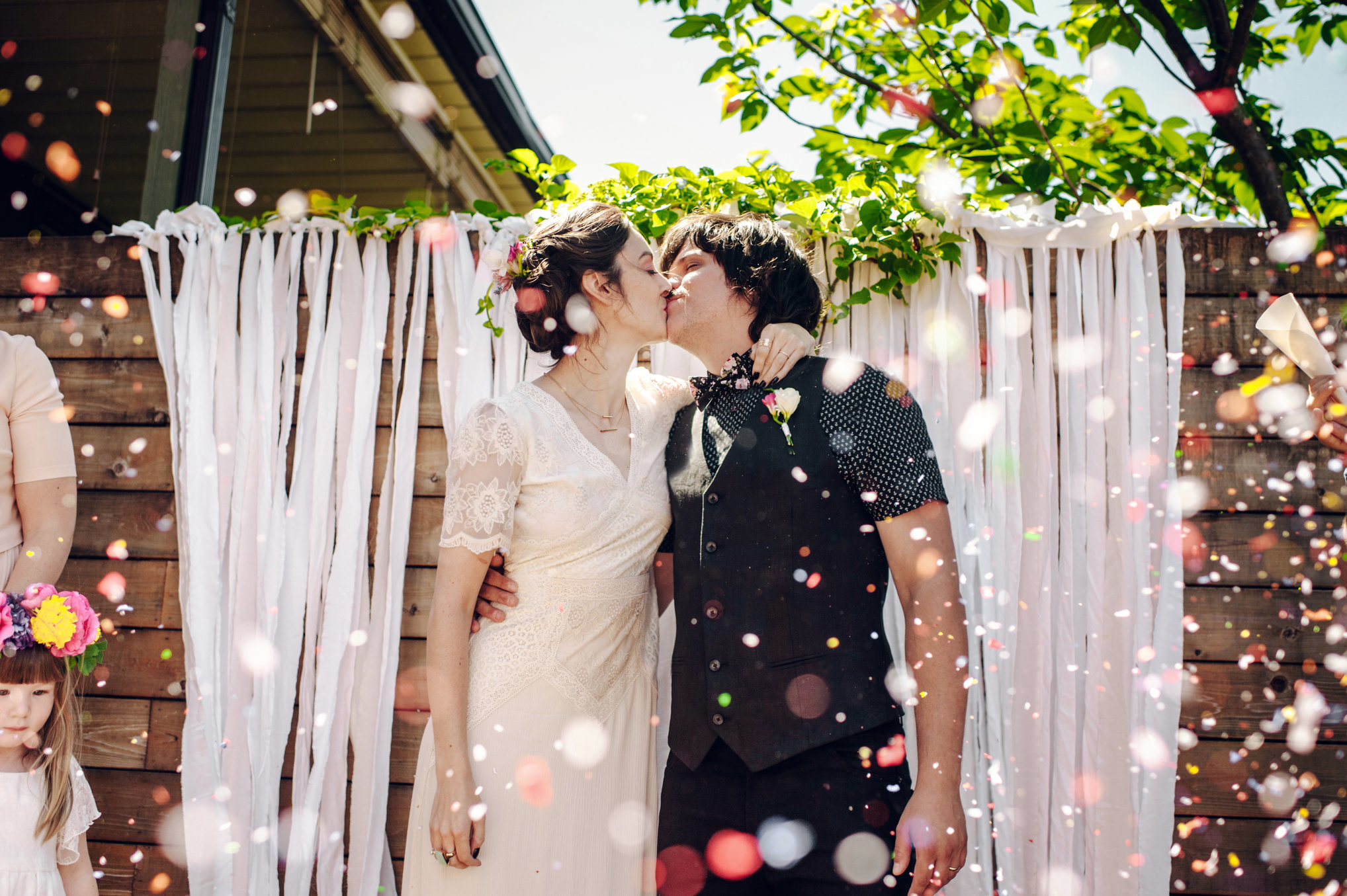 backyard wedding outdoor photo