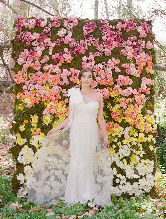 ombre floral backdrop