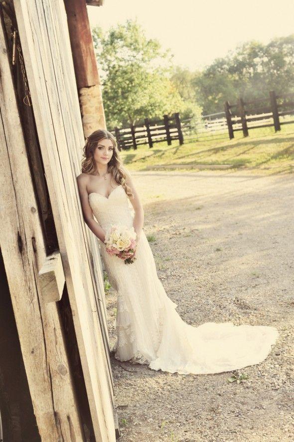 rustic sweetheart dress