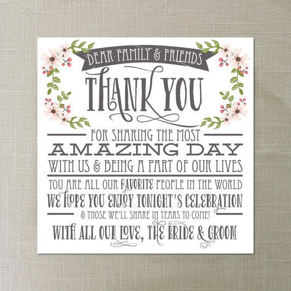 rustic wedding thank you