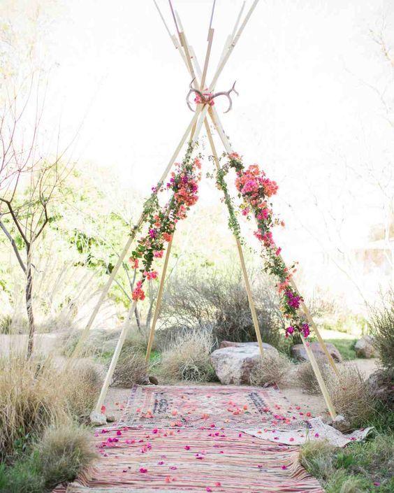 teepee wedding backdrop