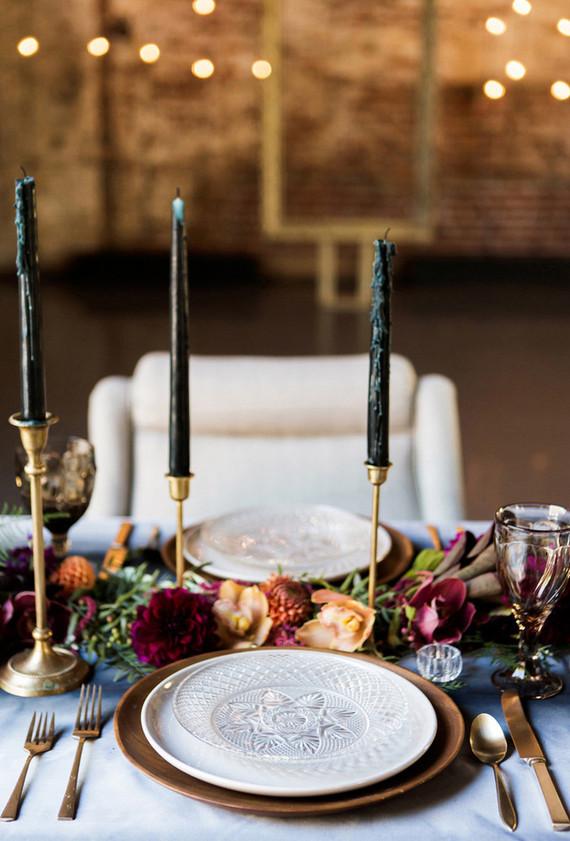 jewel toned table